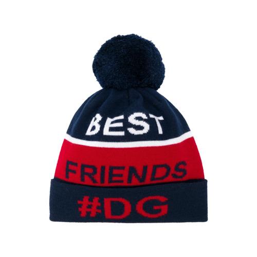 Imagem de Dolce & Gabbana Kids best friends knitted hat - Azul