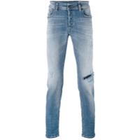 Diesel Calça Jeans Reta 'sleen' - Azul