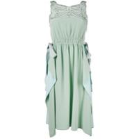 Fendi Vestido De Seda Com Recortes - Green