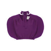 Framed Top Cropped 'cracker' - Roxo