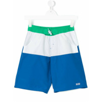 Boss Kids Shorts De Piscina Color Block - Azul