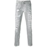 Entre Amis Calça Jeans Desgastada - Cinza