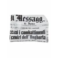 Fornasetti Cinzeiro 'il Messagero' De Porcelana Estampado - Branco
