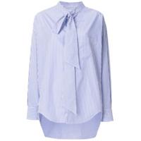 Balenciaga Camisa Listrada - Azul
