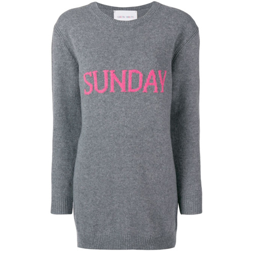 Imagem de Alberta Ferretti Vestido suéter 'Sunday' - Cinza