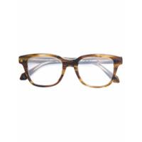 Brioni Óculos Com Armação Quadrada - Brown