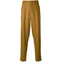 E. Tautz Calça De Alfaiataria Reta - Amarelo E Laranja