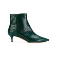 Aquazzura Ankle Boot De Couro 'quant' - Green