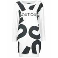 Boutique Moschino Vestido Com Estampa Boutique - Branco