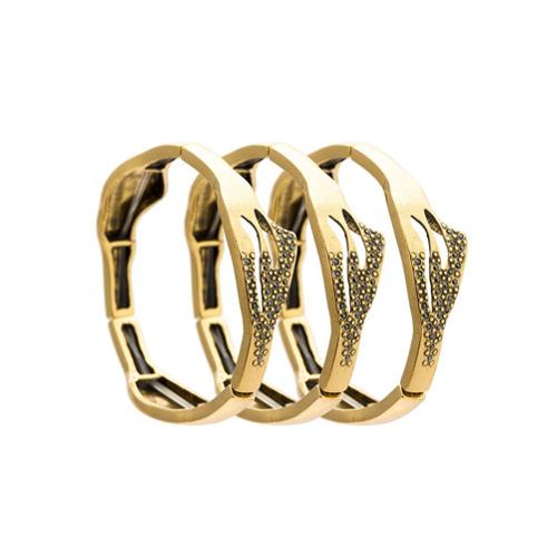 Imagem de Camila Klein Kit com 3 pulseiras - Metallic
