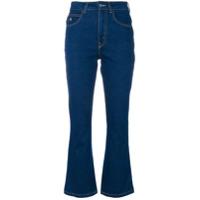 Attico Calça Jeans Flare Cropped - Azul