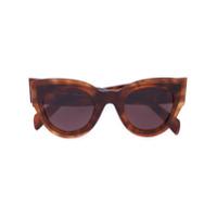 Céline Eyewear Óculos De Sol 'petra' - Brown
