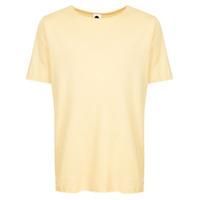 Bassike Camiseta Decote Arredondado - Amarelo E Laranja