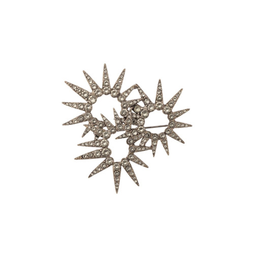 Imagem de Oscar de la Renta Broche 'Sea Urchin' com cristais - Metallic
