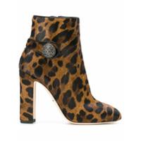 Dolce & Gabbana Ankle Boot Animal Print - Brown