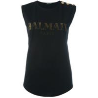 Balmain Camiseta Com Logo - Preto