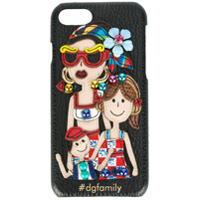 Dolce & Gabbana Case Iphone 7 Com Patch '#dgfamily' - Preto