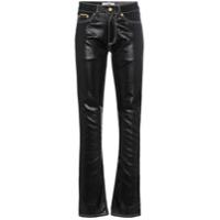 Eytys Calça Jeans Cintura Média Com Costura Contrastante - Preto