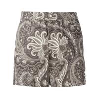 Brioni Shorts Estampado - Brown