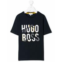 Boss Kids Camiseta Com Logo - Azul