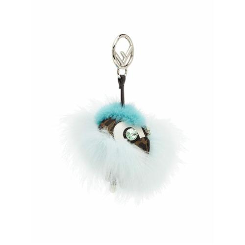 Imagem de Fendi Chaveiro 'Space Monkey' de pele - Azul