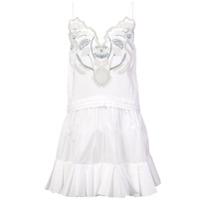 Chloé Vestido Com Bordados - Branco