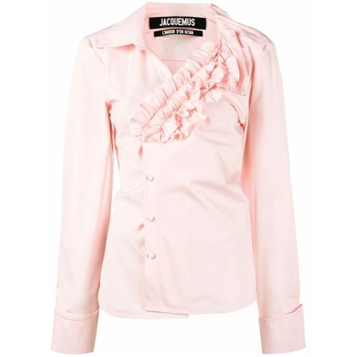 Jacquemus Camisa com detalhe de babado - Pink & Purple