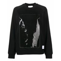Calvin Klein Jeans Blusa De Moletom Com Recorte - Preto