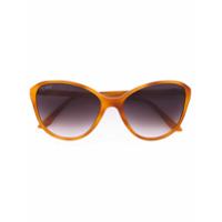 Cartier Óculos De Sol Gatinho Oversized - Amarelo E Laranja