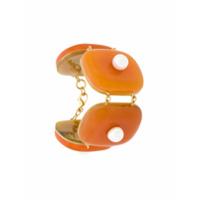 A.brand Top Ombro A Ombro Cruzado - Amarelo E Laranja