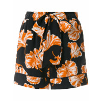 Ganni Shorts 'geroux' De Seda - Preto
