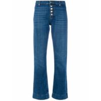 Alexa Chung Calça Jeans Flare Com Botões - Azul