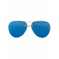 Christopher Kane Eyewear Óculos De Sol Aviador - Metallic