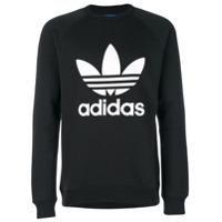 Adidas Moletom Com Logo - Preto
