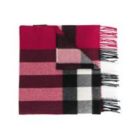 Burberry Cachecol Xadrez De Cashmere - Pink & Purple