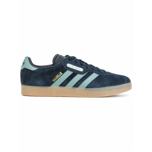 Imagem de Adidas Tênis de couro e camurça com cadarço - Azul