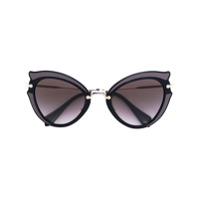 Miu Miu Eyewear Óculos De Sol Gatinho - Preto