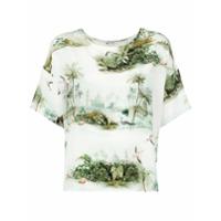 Le Lis Blanc Blusa De Seda Estampada - Branco