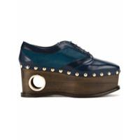 Paloma Barceló Sapato De Couro Com Cadarço Modelo 'loho' - Azul