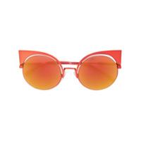Fendi Eyewear Óculos De Sol 'eyeshine' - Amarelo E Laranja