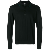 Ps By Paul Smith Camisa Polo Mangas Longas - Preto