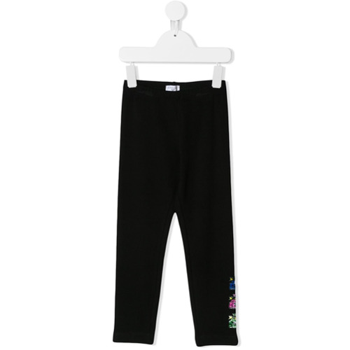 Monnalisa Legging com patches - Preto