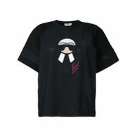 Fendi Camiseta 'karl' Com Estampa - Preto