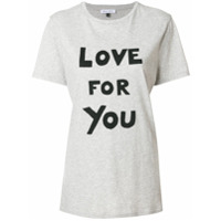 Bella Freud Camiseta 'love For You' - Grey