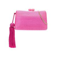 Serpui Clutch De Palha - Pink & Purple