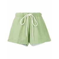 Bassike Shorts De Moletom - Green
