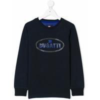 Bugatti Kids Camiseta Com Estampa De Logo - Azul