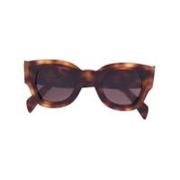 Céline Eyewear Óculos De Sol 'zoe' - Brown