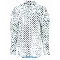 Bassike Camisa Com Poás - Azul