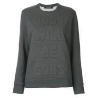 Neil Barrett Camiseta 'gods Will Be Gods' - Cinza